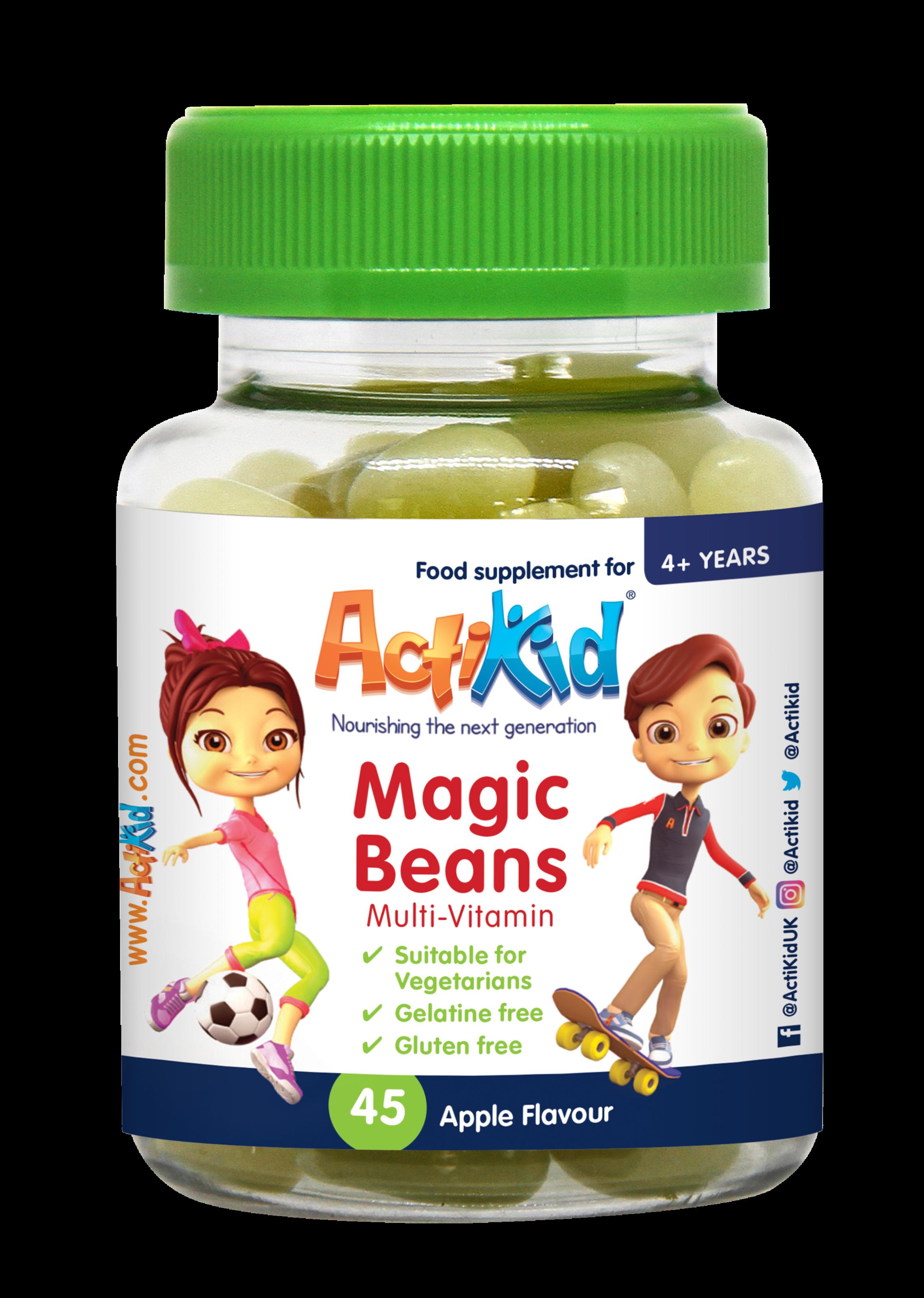 actikid � magic beans multi vitamin apple flavour multi