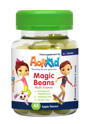 ActiKid® Magic Beans Multi-Vitamin Apple Flavour, 45s