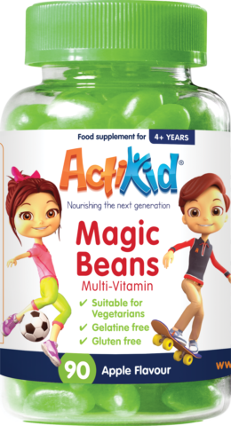 ActiKid Magic Beans Multi-Vitamin Apple Flavour, 90s
