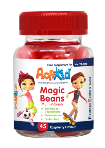 ActiKid® Magic Beans Multi-Vitamin Raspberry Flavour, 45s
