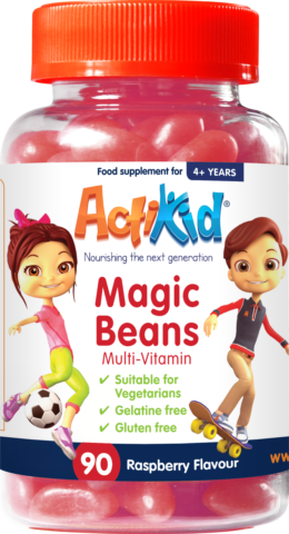 ActiKid® Magic Beans Multi-Vitamin Raspberry Flavour, 90s