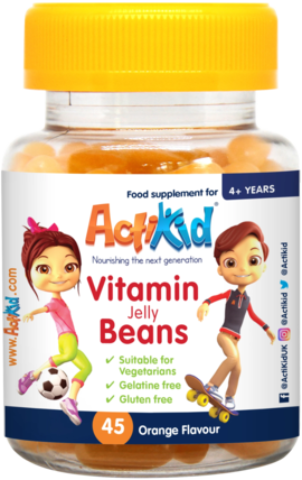 ActiKid® Magic Beans Multi-Vitamin Orange Flavour, 45s