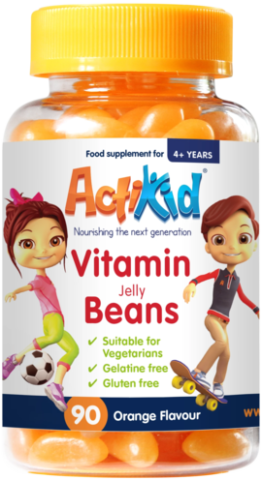 ActiKid® Magic Beans Multi-Vitamin Orange Flavour, 90s