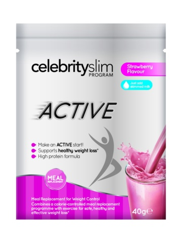 Celebrity Slim Active Single Sachet – Strawberry