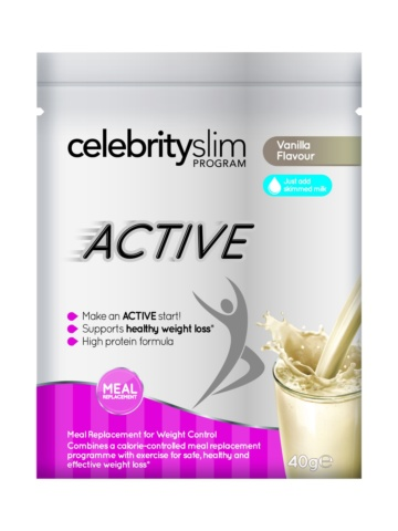 Celebrity Slim Active Single Sachet – Vanilla