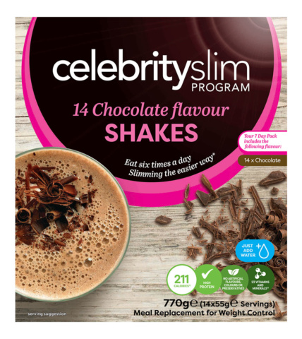 Celebrity Slim Shakes 7 day Chocolate