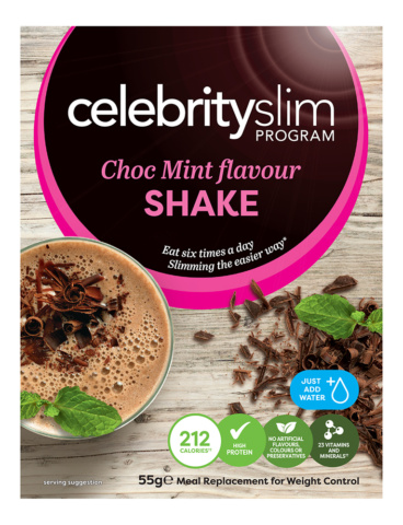 Celebrity Slim Choc Mint Shake