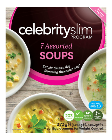 Celebrity Slim Assorted Soup 7 Pack