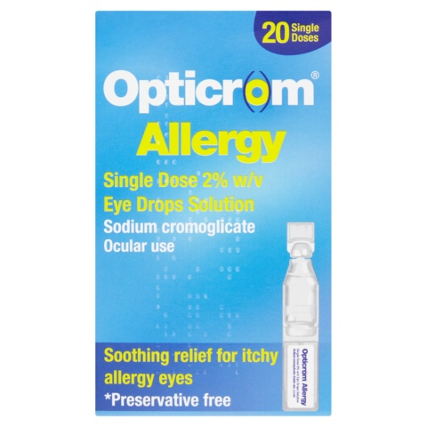 Opticrom Allergy 20 Single Dose Eye Drops