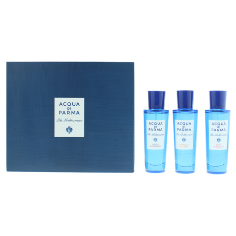 Acqua Di Parma Blu Mediterraneo Collection: 3X Edt 30ml Gift Set Unisex