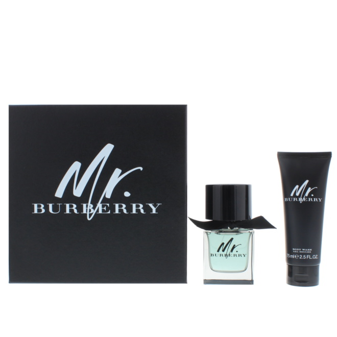 Mr Burberry Edt 50ml - Body Wash 75ml Gift Set Male