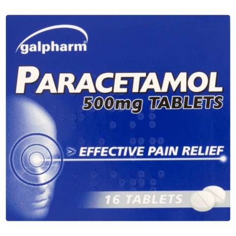 Paracetamol 500mg Tablets, 16 Tablets