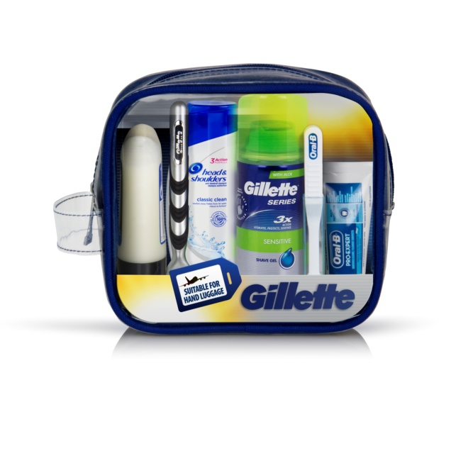 7702018445448 T1 Gillette Travel Set Mach3 Razor   Shave Care   Ora