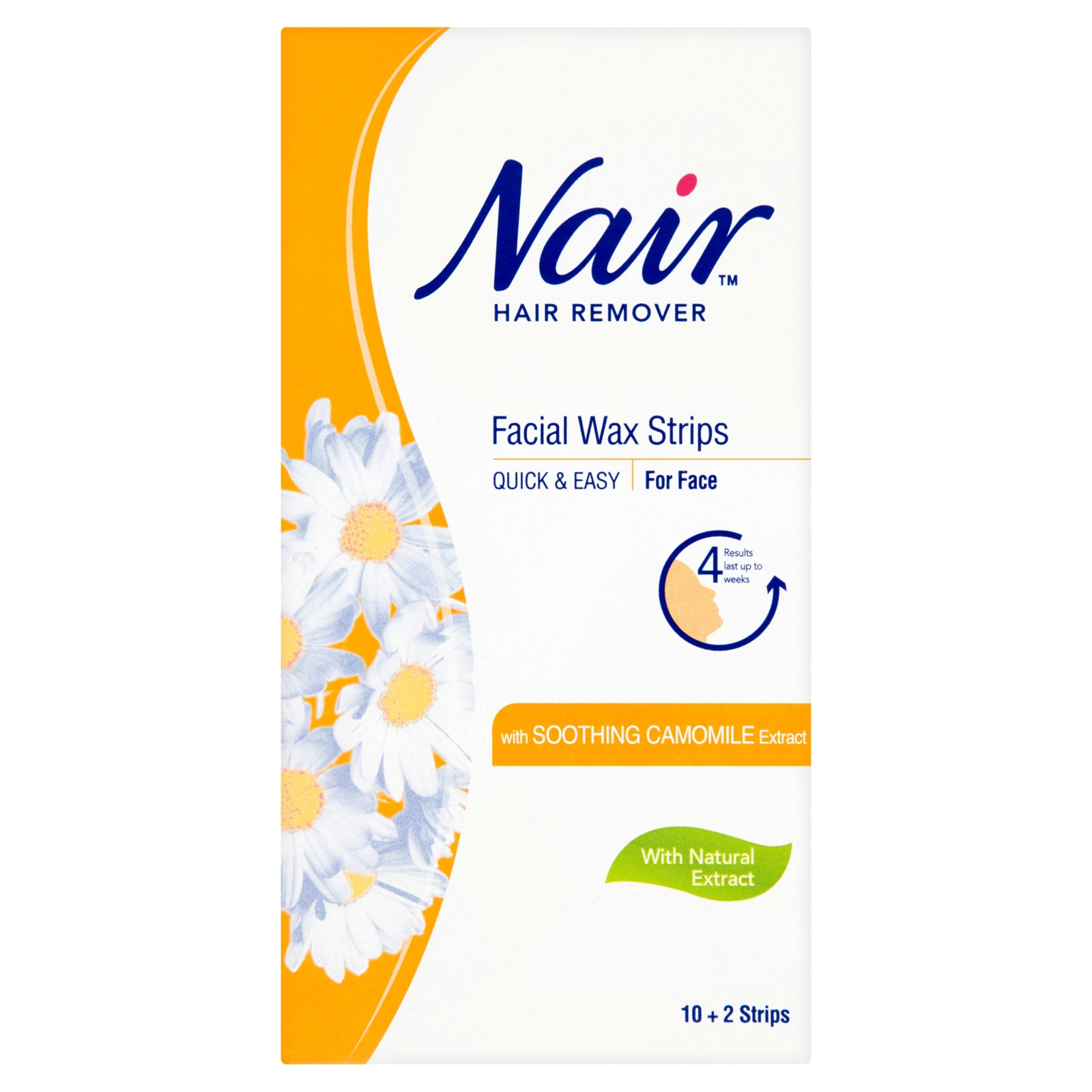 Facial Hair Removal Wax Strips With Soothing Camomile