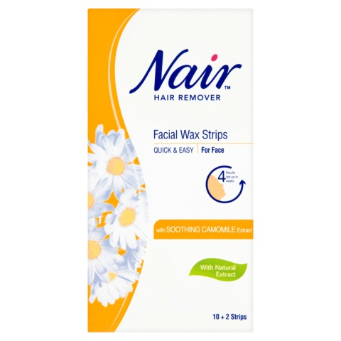 Nair Hair Remover Facial Wax Strips with Soothing Camomile Extract