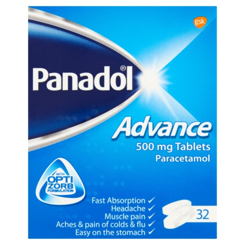 Panadol Advance Paracetamol Pain Relief Tablets