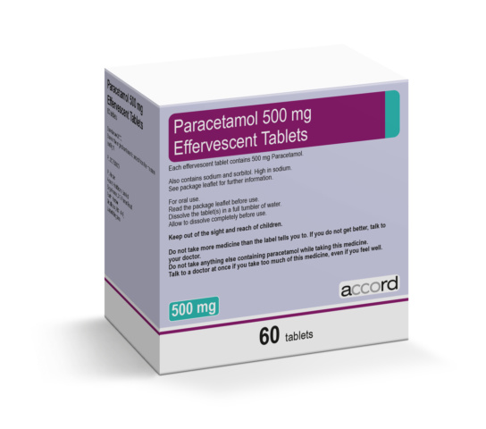 Paracetamol 500 mg Effervescent Tablets