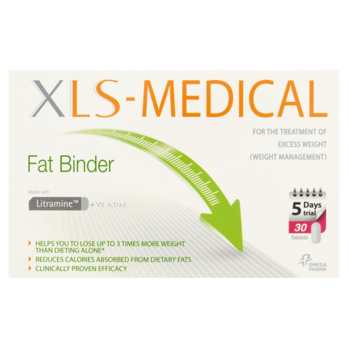 5012616291579 T1 XLS Medical Fat Binder 5 Days Trial Pack 30 Tablet