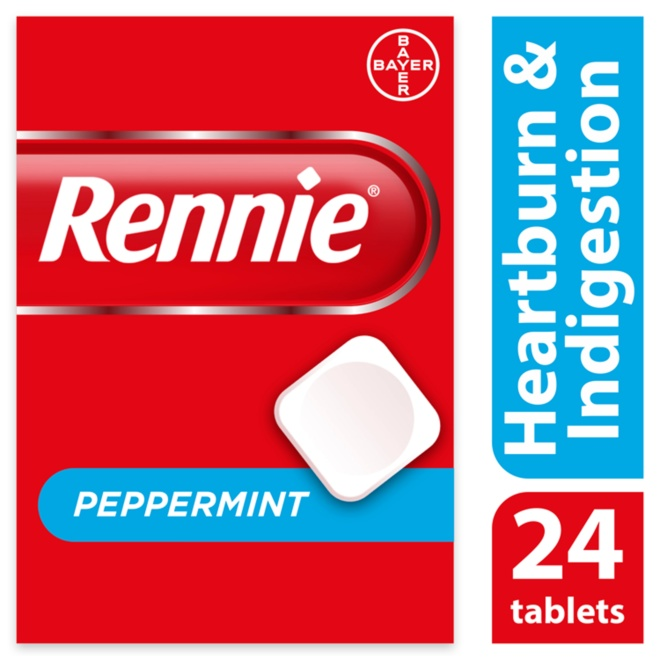 5010605295256 T595 Rennie Peppermint 24 Tablets
