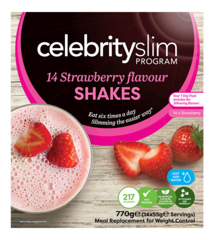 Celebrity Slim Shakes 7 day Strawberry