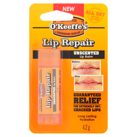 O'Keeffe's Lip Repair Unscented Lip Balm 4.2g