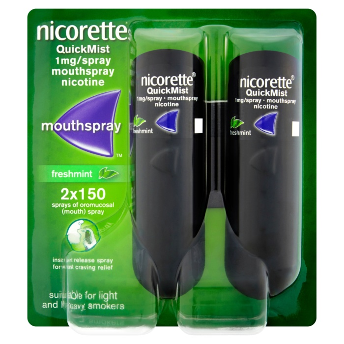 3574660647686 T1 Nicorette  QuickMist 1mg Spray Mouthspray Nicotine
