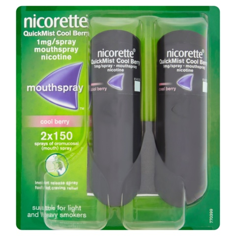 Nicorette® QuickMist Cool Berry 1mg/Spray Mouthspray Nicotine