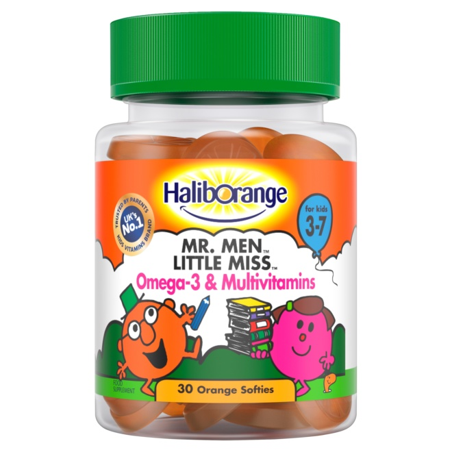 5012335113909 T1 Haliborange Mr. Men Little Miss Omega 3   Multivit