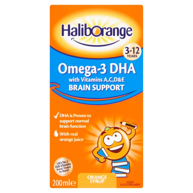 5012335304604 T1 Haliborange Kids Omega 3 DHA with Vitamins Orange