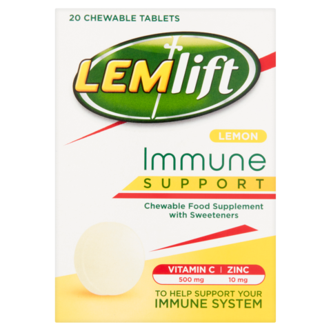 Lemlift Immune Support Lemon Chewable Tablets with Vitamin C