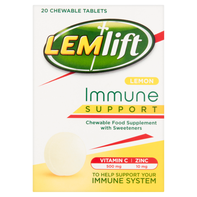 5011417571262 T1 Lemlift Immune Support Lemon Chewable Tablets with
